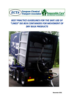 Best Practice Guidelines for the Safe Use of Lined Iso Box Containers for Movement of Dry Bulk Products