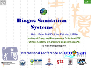 Better city – better life Heinz-Peter MANG & Ina Patricia JURGA Institute of Energy and Environmental Protection (IEEP) Chinese Academy of Agricultural