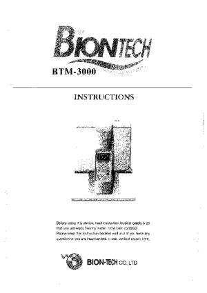 Biontech BTM-3000 User Manual
