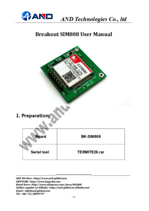 BK-SIM808 Board User Manual v20