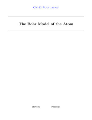 Bohr ing Model of the Atom