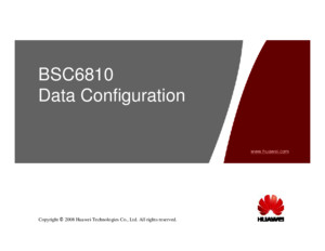 BSC6810 Data Configuration