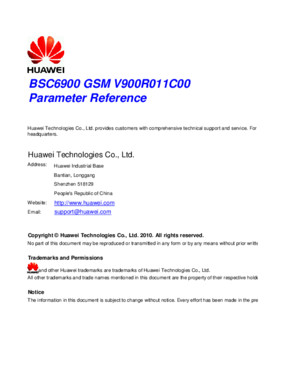 BSC6900 GSM Parameter Reference