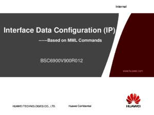 BSC6900V900R012 UO Interface Data Configuration(ATM)-20101218-B-V10