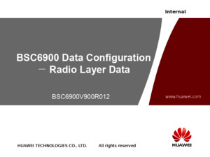 BSC6900V900R012 UO Radio Layer Data Configuration-20101218-B-V10