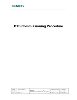 BSS Commissioning Procedure v0
