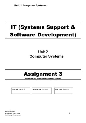 BTEC Level 3 Computer Systems Assignment 3 IV (2)