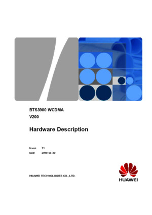 BTS3900 WCDMA Hardware Description (V200_11)