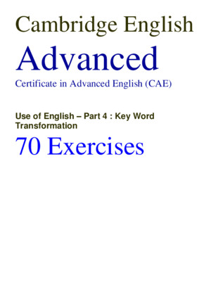 CAE Use of English 70 Exercises With Answerspdf