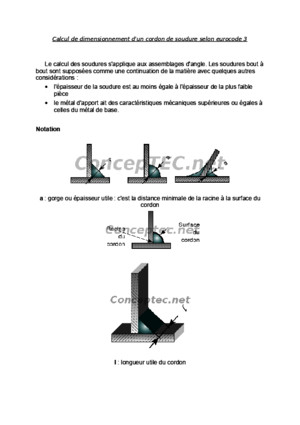 Calcul de Dimensionnement d