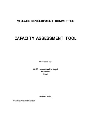 Capacity Assessment Tool - Village Development Committee
