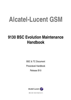 Card Name BSC Maintenance Handbook