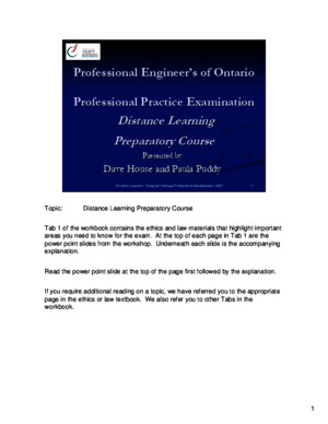 1 - OSPE Course 2007 - Content Slides Only