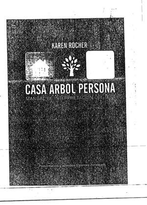 Casa Arbol Persona Manual de Interpretacion Del Test - Karen Rocher