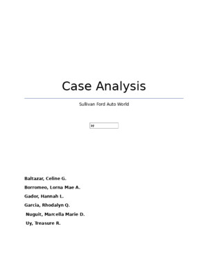 Case Analysis of Sullivan Ford Auto World