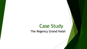 Case Organizational Behavior- case Regency Hotel