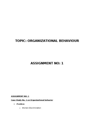 Case Study - Organizational Behaviour