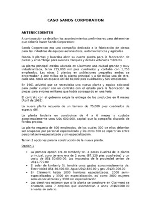 Caso de Investigacion Sands Corporation