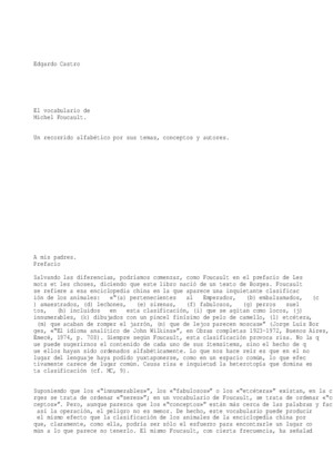 Castro Edgardo El Vocabulario de Michel Foucault
