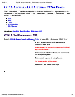 CCNA 2 v50 Final Exam Answers