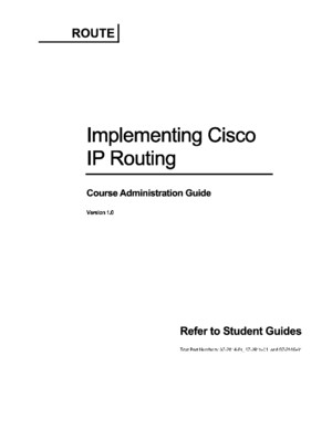 CCNP ROUTE 642-902 Course Administration Guide