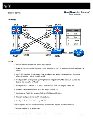 CCNP Switching LAB Preparation Test