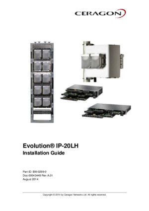 Ceragon Evolution IP20LH Installation Guide Rev a01