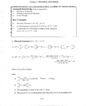 Ch5 Binomial Expansion
