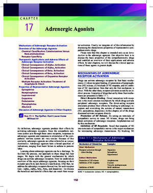chapter 17 Adrenergic Agonists