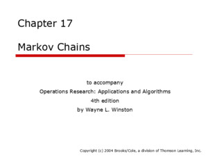 Chapter 19 Probabilistic Dynamic Programming to accompany Operations Research: Applications and Algorithms 4th edition by Wayne L Winston Copyright (c)