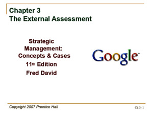 chapter 3 strategic management concepts and cases 12th edition ppt