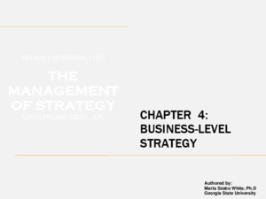 CHAPTER 4: BUSINESS-LEVEL STRATEGY IRELAND | HOSKISSON | HITT THE MANAGEMENT OF STRATEGY CONCEPTS AND CASES 10E