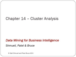Chapter 7 – Classification and Regression Trees © Galit Shmueli and Peter Bruce 2008 Data Mining for Business Intelligence Shmueli, Patel & Bruce