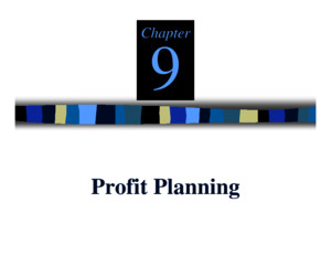 Chapter 9 Profit Planningpdf
