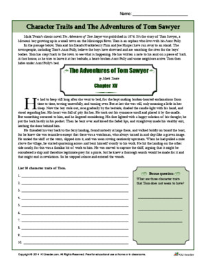 Character Traits and the Adventures of Tom Sawyer