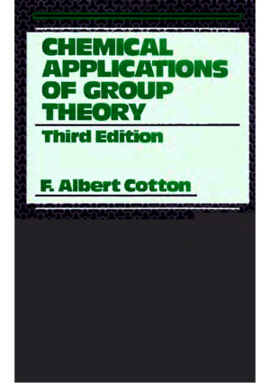 Chemical Applications of Group Theory, 3rd Editionpdf