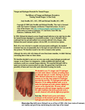 1 Vinegar and Hydrogen Peroxide for Toenail Fungus