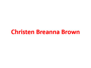 Christen breanna brown