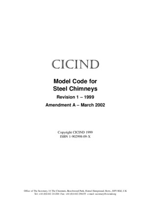 CICIND - Model code for steel chimneys_1999pdf