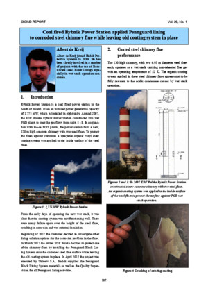 CICIND Paper Coal Fired Power Station Applied Pennguard Lining to Corroded Steel Flue