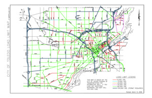 City of Toledo Load Limit Map