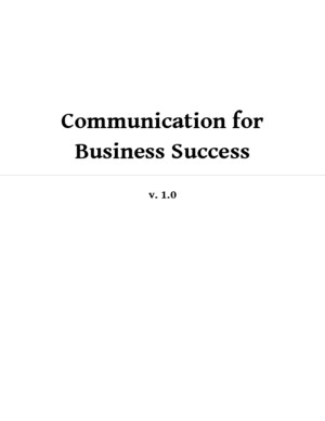 Communication for Business Success