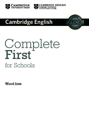 Complete First for Schools Wordlist