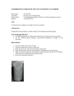 Compressive Strength Test for Concrete Cube