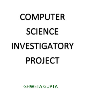 Computer Science Investigatory Project Class 11/12