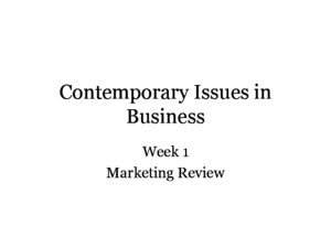 Contemporary Issues in Business Communication
