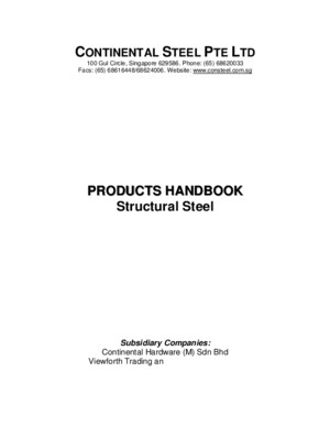 Continental Steel Catalogue