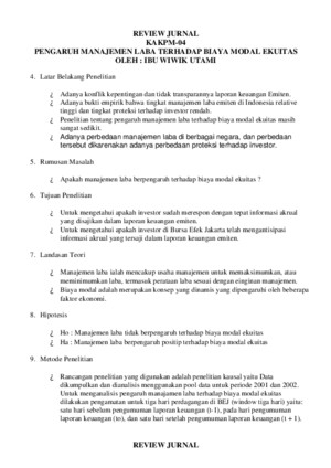 Contoh-Review Jurnal Perataan Laba