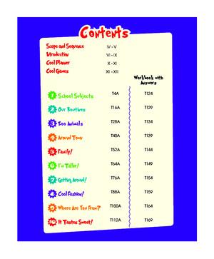 CoolKids 3 Teacher Book Content