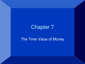 Copyright © 2007 by John Wiley & Sons, Inc All rights reserved Chapter 7 The Time Value of Money